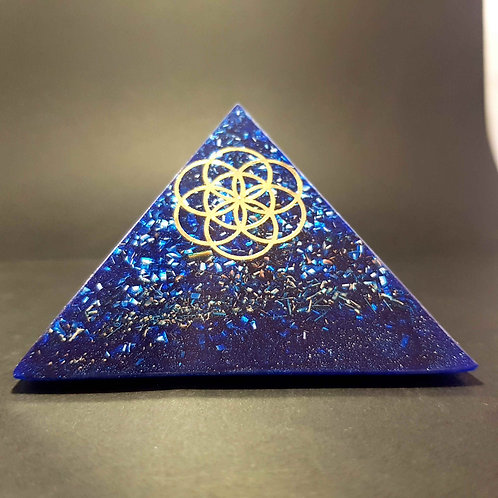 Pyramide Bleu Graine de vie - Harmonie - Bien être