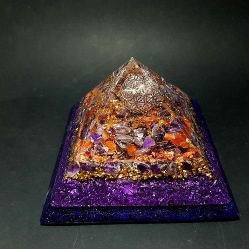 D - Pyramide Fleur de vie - Amour - bien être - protection