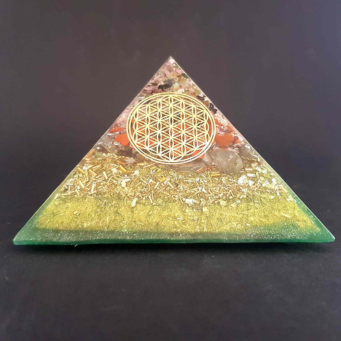 P18 - Pyramide  Fleur de vie  Protection - Joie - Equilibre