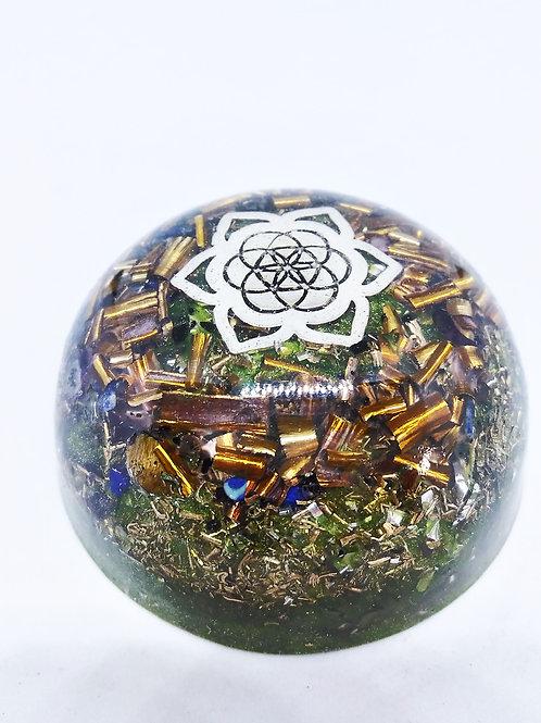 54- Orgonite Graine de vie Lotus