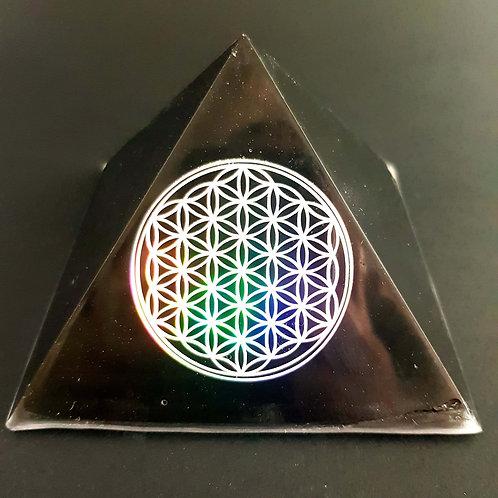 "D - Pyramide Fleur de vie ""Arc en ciel"""