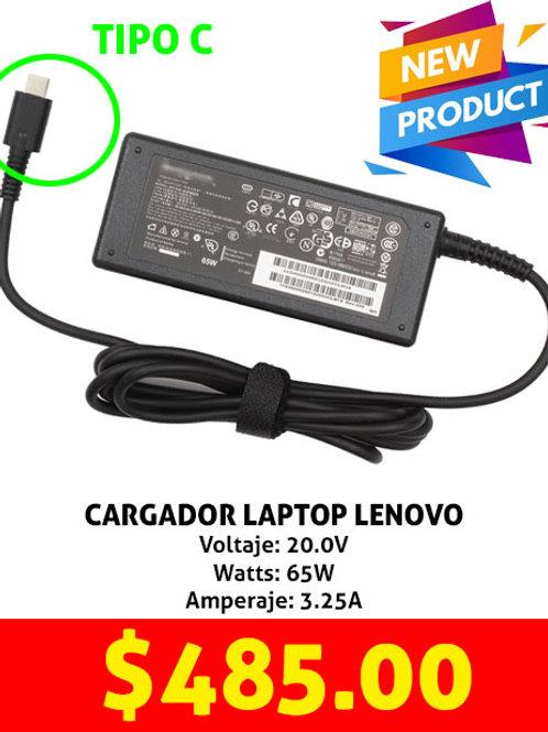 Cargador para laptop Lenovo tipo C