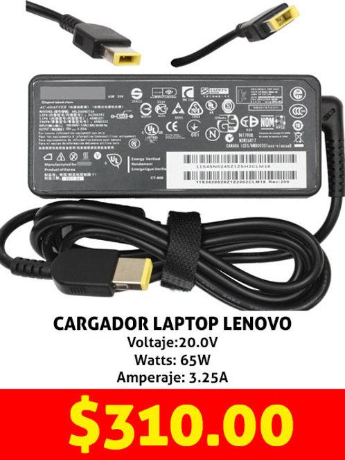 Cargador para laptop Lenovo amarillo