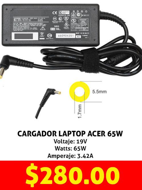 Cargador para laptop Acer 65W