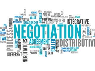Negotiation. Negotiation. Negotiation.