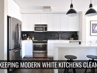 Modern White Kitchens? Tips to Clean and Maintain Your White Cabinets