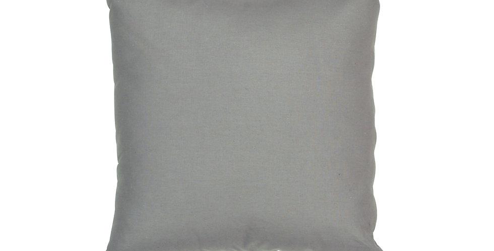 Gray Tassel Cushion