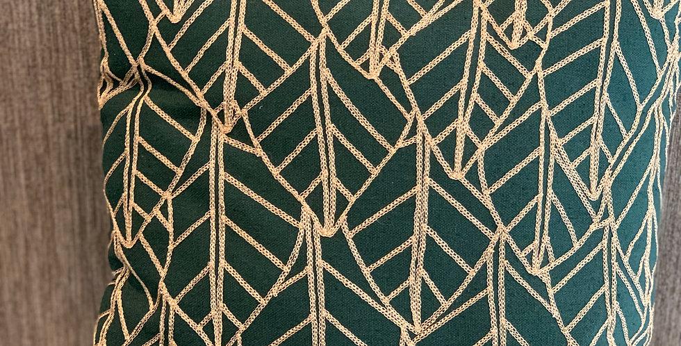 Green Leaf 45x45cm Cushion