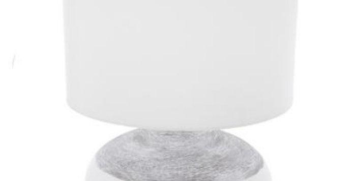 Atmosphera Taupe Ceramic Lamp White