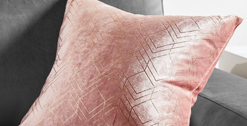 Pink Velvet Cushion 45x45cm