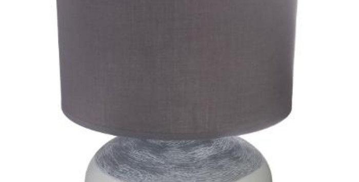 Atmosphera Taupe Ceramic Lamp