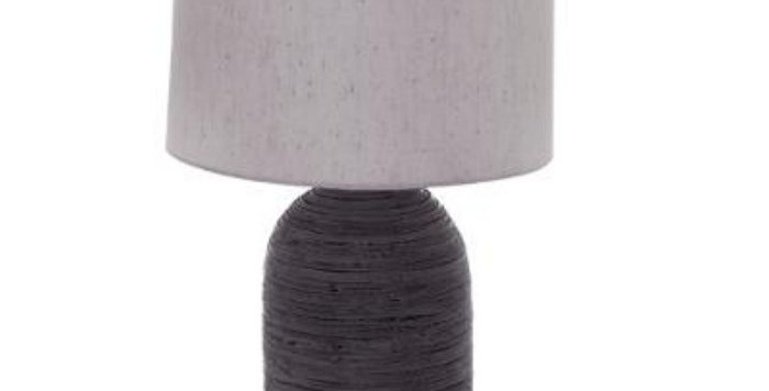 Atmosphera Grey Striated Lamp