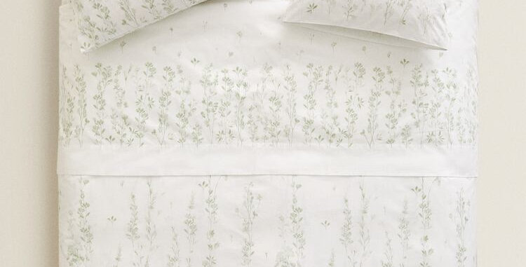 King Size Botanical Quilt Cover