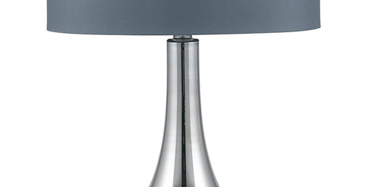 Pacific Grey Curved Glass Table Lamp
