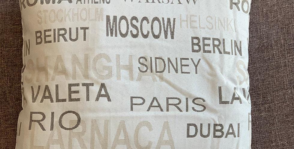 CITY Cushion 45x45cm