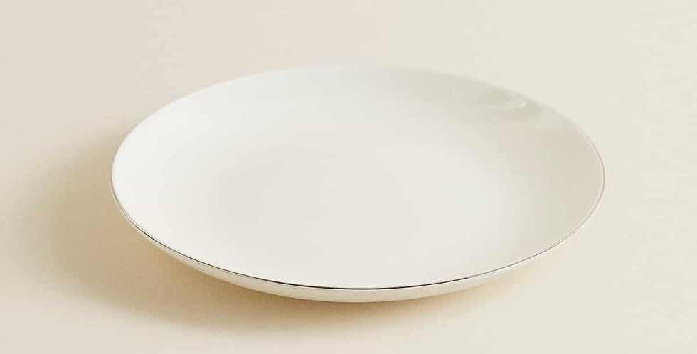Side Plate with Silver Rim