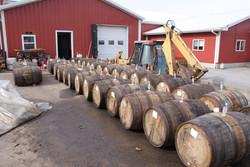 Barrels arrive at the farm