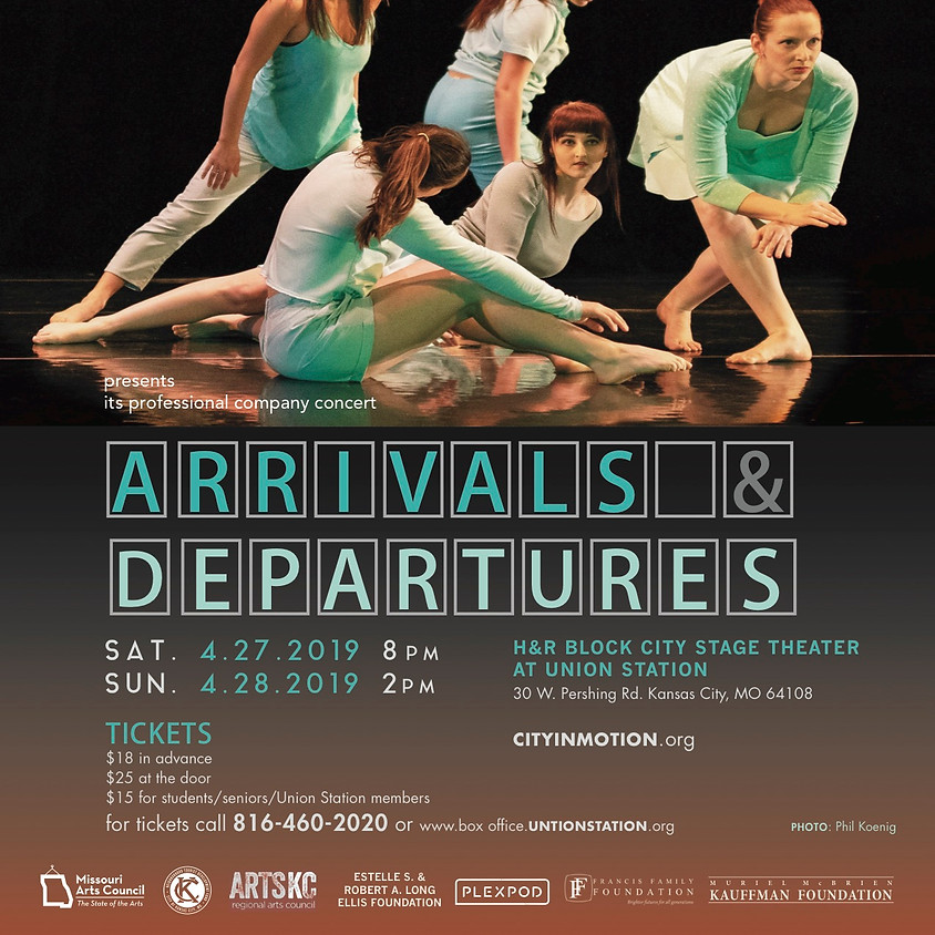 Arrivals and Departures Sunday April 28th 2pm