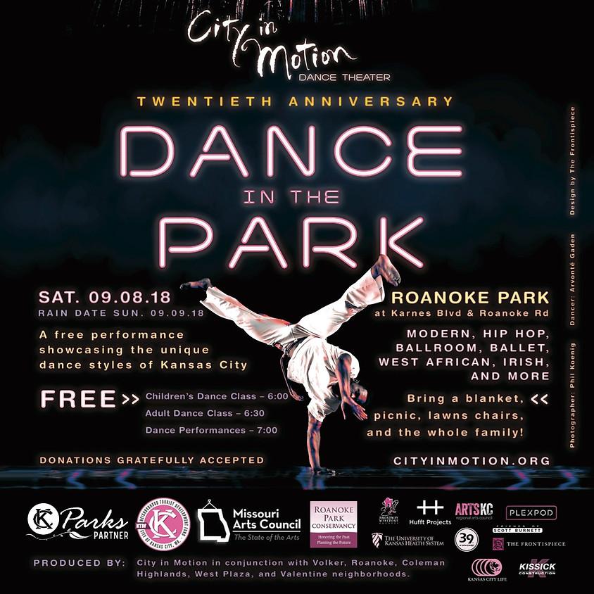 RAIN DATE! 20th Annual Dance in the Park