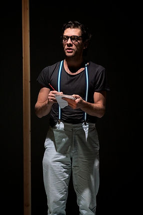 "Aaron Orzech in ""Hello There, We've Been Waiting For You"". Photo by Justin Batchelor."