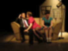 "Tom Atkinson, Leone White and Steph Calthorpe in ""Hunny-Bun & Baby Doll"""