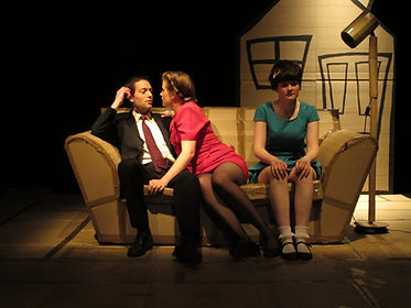 """Tom Atkinson, Leone White and Steph Calthorpe in """"Hunny-Bun & Baby Doll"""""""