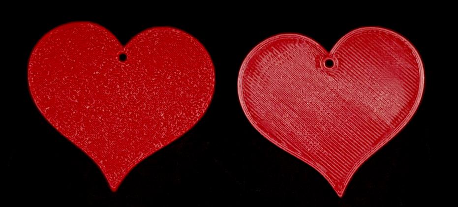 Herz - Vorder- und Rückseite