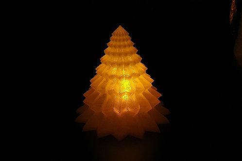 Leuchtender Weihnachtsbaum - Zackig