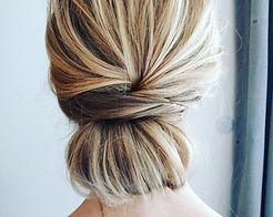 Low bun updo