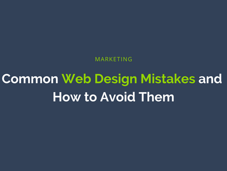 Common Web Design Mistakes and How to Avoid Them