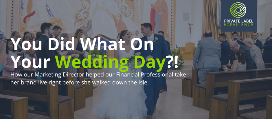 You Did What On Your Wedding Day?!