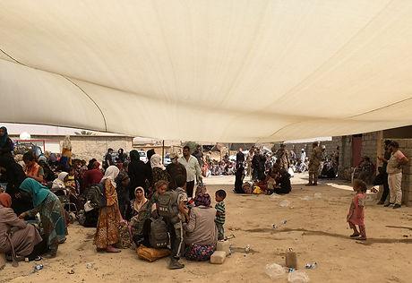 IDP transit site near Tal Afar