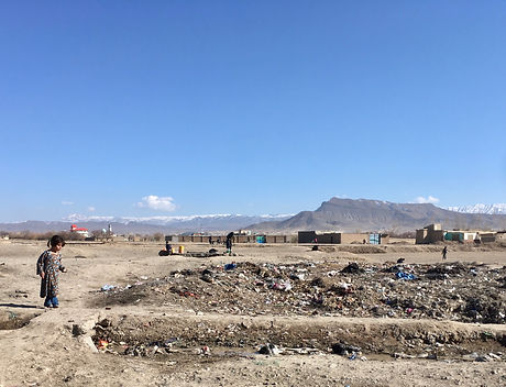 Rural informal settlement for IDPs in Paktiya