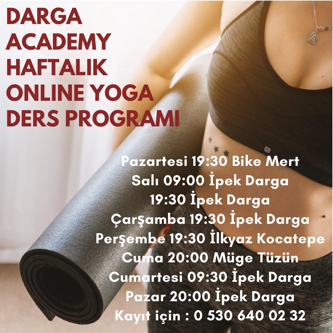 darga academy onlıne yoga ders programı