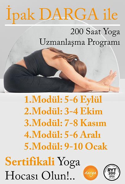 İpek Darga ile 200 Saatlik Temel Yoga Uzmanlaşma Programında Yoga Pozlarını, Asanaları öğreneceğiz. Nefes teknikleri ile enerjimizi yükseltip ve meditasyon teknikleriyle arınacağız. ——————————————— Kurs sonunda İpek DARGA ile özel koçluk seansı ile yolunuzu çizmeye hazırmısınız?.. ——————————————— İlk iki modül online sonraki modüller Pandemi koşullarına göre yüzyüze olabilir. ——————————————— Sertifikalı Yoga Hocası Olmak için Buluşma Tarihleri: 5-6 eylül 3-4 ekim 7-8 kasım 5-6 aralık 9-10 ocak ——————————————— Bilgi ve rezervasyon için 📲05327701835 ulaşabilirisniz 🙏