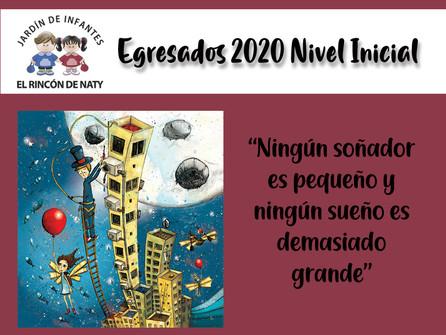 Acto de Egresados 2020 Nivel Inicial.