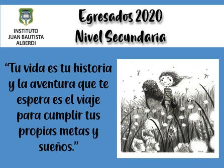 Acto de Egresados 2020 Nivel Secundario.