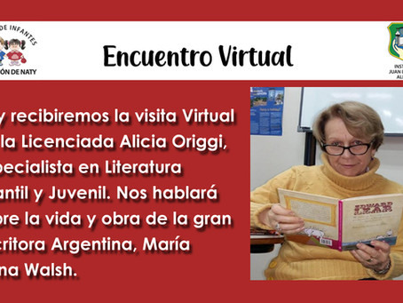 Encuentro Virtual con Alicia Origgi
