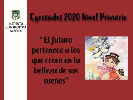 Acto de Egresados 2020 Nivel Primario