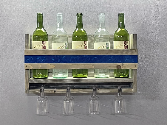 Epoxy inlaid wine rack