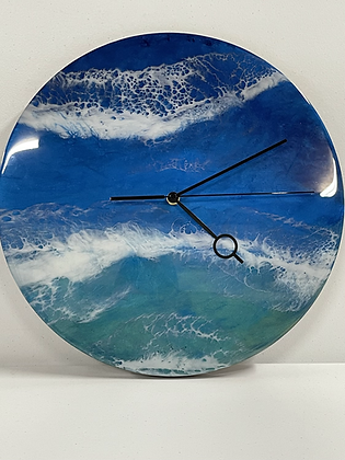 Epoxy ocean wall clock