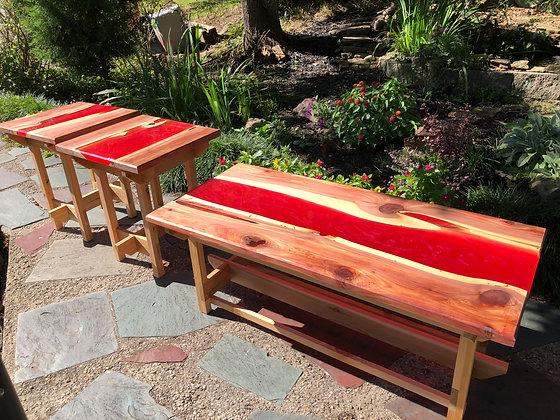 Live Edge River table set