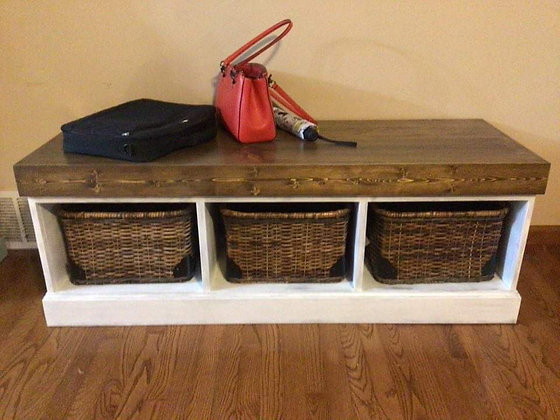 Wooden Entryway Bench