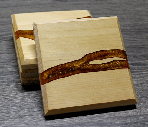 Epoxy River Coasters