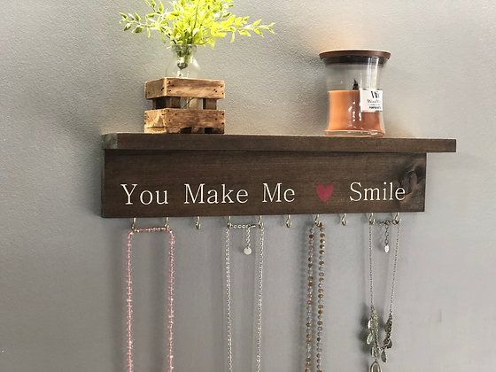 Jewelry Hanger with Shelf