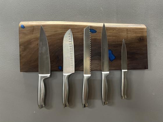 Live edge knife rack