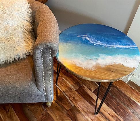 Epoxy ocean side table