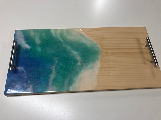 Epoxy Ocean Serving Tray