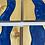 Thumbnail: Epoxy river coasters. Cobalt and golden oak