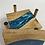 Thumbnail: Epoxy river coasters. Rainbow blue and special walnut